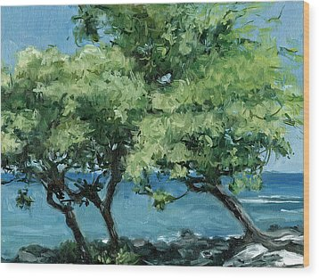 Big Island Trees Wood Print by Stacy Vosberg