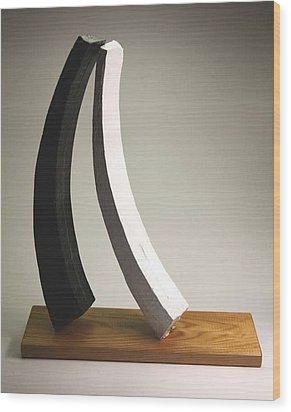 Big Love On Litle Base Wood Print by Lilian Istrati