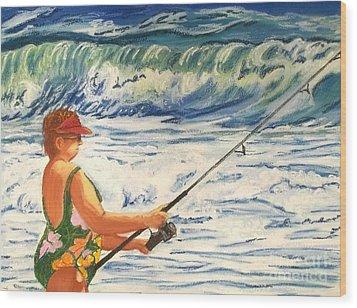 Big Momma Fishin' Wood Print by Frank Giordano