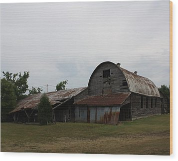 Big Old Barn Wood Print by Terry Scrivner