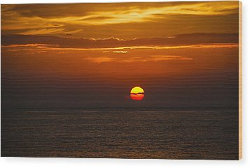 Wood Print featuring the photograph Big Orange Ball by Phil Abrams
