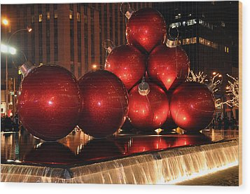 Big Red Balls Wood Print