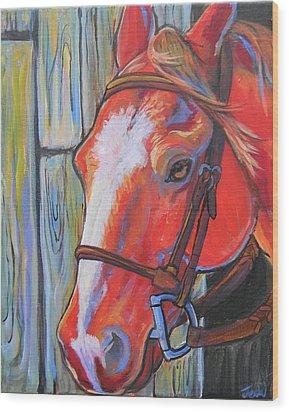 Big Red Wood Print by Jenn Cunningham