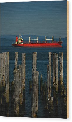Big Red Wood Print by Mamie Gunning