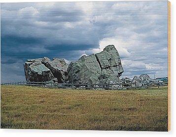 Big Rock 2 Wood Print by Terry Reynoldson