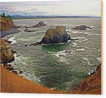 Big Rock Beach Wood Print by Marty Koch