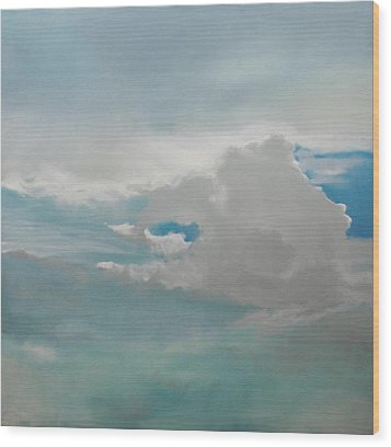 Wood Print featuring the painting Big Sky by Cap Pannell