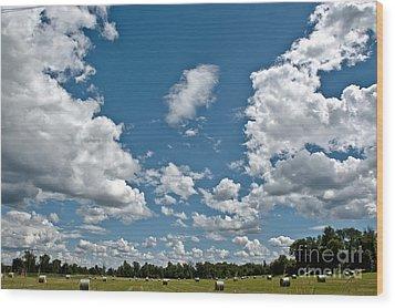 Big Sky Wood Print by Cheryl Baxter