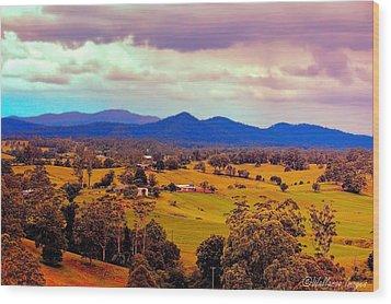 Big Sky Country Wood Print by Wallaroo Images