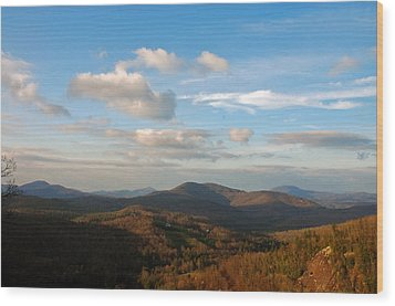 Wood Print featuring the photograph Big Sky In Cashiers by Allen Carroll