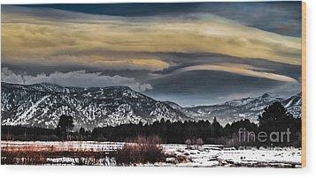 Big Sky Wood Print by Mitch Shindelbower