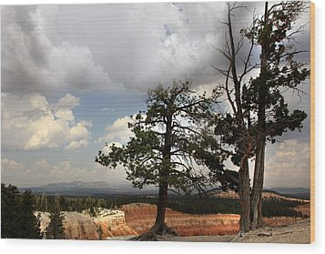 Big Sky Over Bryce Canyon Wood Print by Joseph G Holland