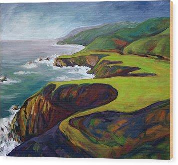 Big Sur California 2 Wood Print by Konnie Kim