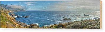 Big Sur Coast Pano 2 Wood Print