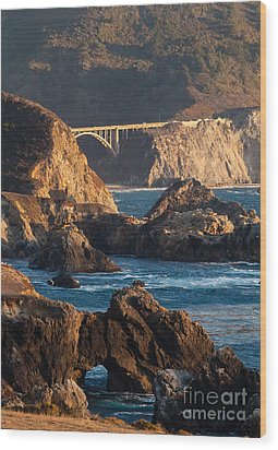 Big Sur Coastal Serenity Wood Print