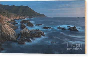 Big Sur Coastline Wood Print by Mike Reid