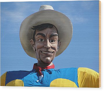 Big Tex Wood Print