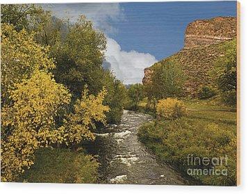 Big Thompson River 2 Wood Print by Jon Burch Photography