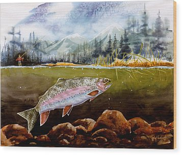 Big Thompson Trout Wood Print
