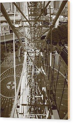 Darling Harbour Big Wheel.  Wood Print