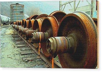 Big Wheels Wood Print by Will Boutin Photos