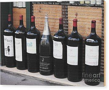 Big Wine Wood Print by John Rizzuto