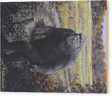 Bigfoot Wooly Booger Wood Print