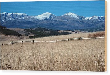 Bighorn Mountains Wy Wood Print