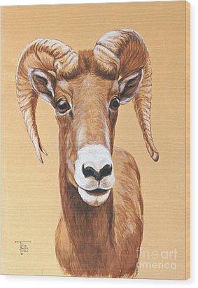 Bighorn Ram Wood Print