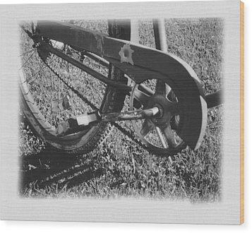 Bike Wood Print by Brady D Hebert