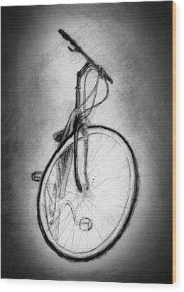 Bike Wood Print by Di Fernandes