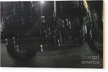 Wood Print featuring the photograph Bike Light Painting by Megan Dirsa-DuBois