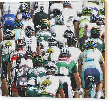 Wood Print featuring the photograph Bike Race Image by Christopher McKenzie