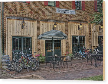 Bike Shop Cafe Katty Trail St Charles Mo Dsc00860 Wood Print