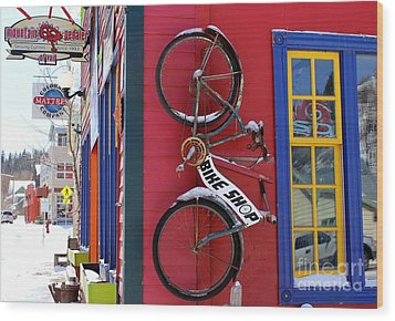 Wood Print featuring the photograph Bike Shop by Fiona Kennard