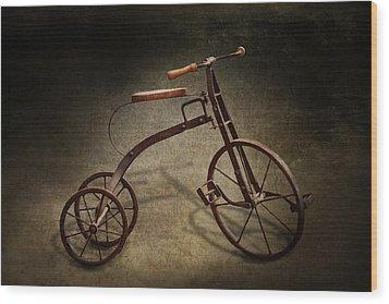 Bike - The Tricycle  Wood Print by Mike Savad