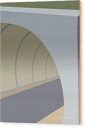 Bike Tunnel Wood Print