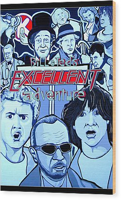 Bill And Teds Excellent Adventure Wood Print by Gary Niles
