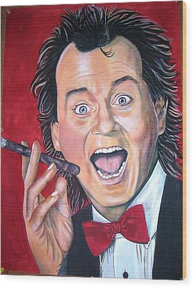 Bill Murray Wood Print by Linda Vaughon