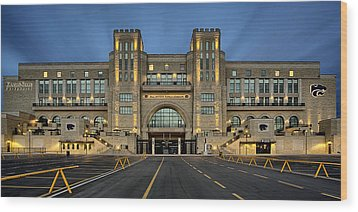 Bill Snyder Family Stadium Wood Print by Thomas Zimmerman