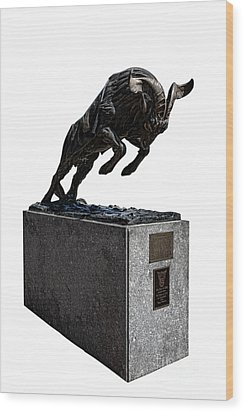 Bill The Goat Wood Print by Olivier Le Queinec