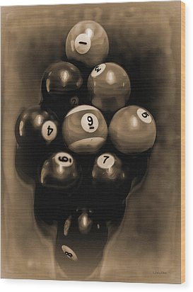 Billiards Art - Your Break - Bw Opal Wood Print