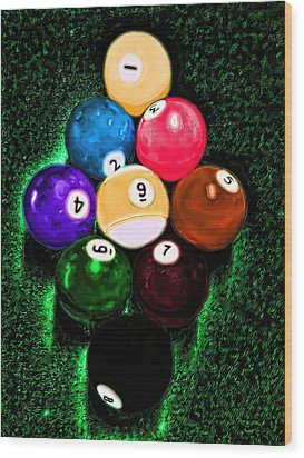 Billiards Art - Your Break Wood Print by Lesa Fine
