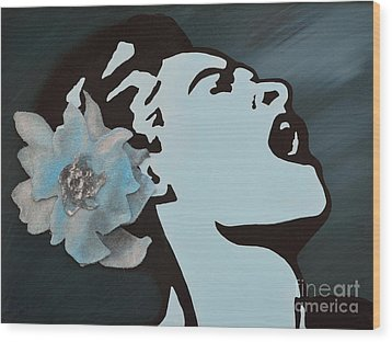 Billie Holiday Wood Print by Alys Caviness-Gober