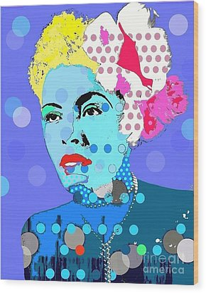 Billie Holiday Wood Print by Ricky Sencion
