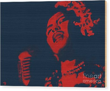 Wood Print featuring the painting Billie Holiday by Vannetta Ferguson