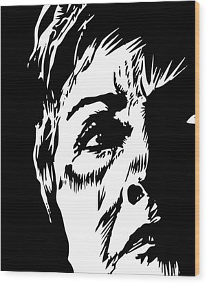 Bill's Old Lady Wood Print by Phil Wooley