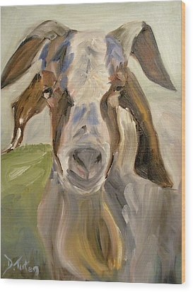 Wood Print featuring the painting Billy by Donna Tuten