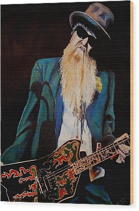 Billy Gibbons Wood Print by Chris Benice