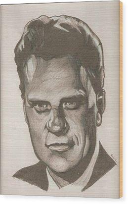 Billy Graham Drawing Wood Print by Robert Crandall